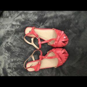 Size 6.5 pink flats